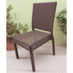 Caribbean Resin Wicker Dining Side Chair - ESPRESSO BROWN