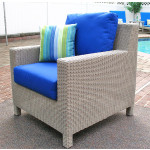 Caribbean Resin Wicker Chair  - DRIFTWOOD