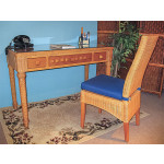 Canterbury Writing Table and GLass Top - CARAMEL