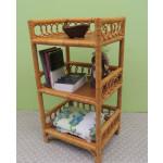 Circle Design Wicker Floor, Shelf-Caramel -