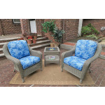 3 Piece Laguna Beach Resin Wicker Chat Set  - DRIFTWOOD