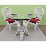 "3 Piece Coronado Rattan Dining Set 36:"" (Side Chairs) Brand New 3 Colors - WHITE"