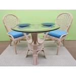 "3 Piece Coronado Rattan Dining Set 36:"" (Side Chairs) Brand New 3 Colors - WHITEWASH"
