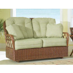 Eastwind Natural Rattan Loveseat Glider (Custom Finishes Available) -