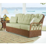 Eastwind Natural Rattan Sofa Glider( Custom Finishes Available) -