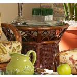 East Wind Rattan End Table (Custom Finishes) -