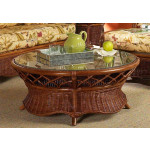 East Wind Round Rattan Cocktail Table (Custom Finishes) -