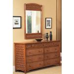 Monte Carlo Rattan 9 Drawer Double Dresser -