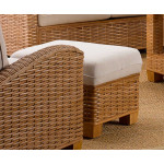 Millennial Natural Rattan Ottoman (Custom Finishes Available) -