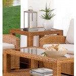 Millennial Rectangular Rattan End Table (Custom Finishes) -