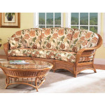 Mountain View Natural Rattan Crescent Sofa (Custom Finishes Available) -