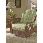 Orchard Park Natural Rattan Swivel Glider Chair -