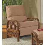 Orchard Park Natural Rattan 3-Position Recliner  (Custom Finishes Available) -