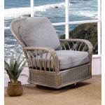 Oceanview Natural Rattan Swivel Glider Chair (Custom Finishes Available) -