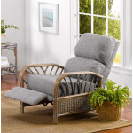 Oceanview Natural Rattan 3-Position Recliner  (Custom Finishes Available) - OPEN