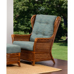 South Shore Natural Rattan High Back Lounge Chair (Custom Finishes Available) -