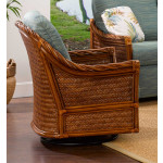 South Shore Natural Rattan Swivel Glider Chair (Custom Finishes Available) -