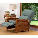 South Shore Natural Rattan 3-Position Recliner  (Custom Finishes Available) - OPENED