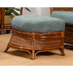 South Shore Natural Rattan Ottoman (Custom Finishes Available) -