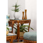 South Shore Round Rattan End Table (Custom Finishes) -