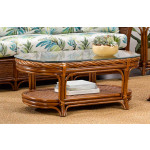 South Shore Oval Rattan Cocktail Table (Custom Finishes) -