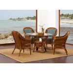 South Shores Rattan Glass Top Dining Sets (Custom Finishes Available) -