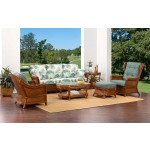 6 Piece South Shore Natural Rattan Sofa Set (Custom Finishes Available) -