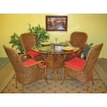 """5 Piece Catalina Rattan Dining Sets 42' & 48"""" Round - TEAWASH"""