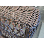 Madrid Resin Wicker Loveseat with Cushion - DETAIL, MADRID ARM
