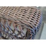 Madrid Resin Wicker Rocking Chairs, Rustic Brown -