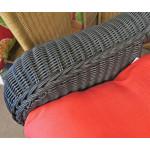 "Malibu Resin Wicker Conversation Set (1) 19.5"" High Table (4) Chairs - DETAIL, MALIBU ARM"