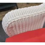 3 Piece Malibu Resin Wicker Chat Set with Square Table - DETAIL, MALIBU ARM