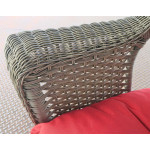 "High Back Veranda Resin Wicker Conversation Set (1) 24"" High Table (4) Chairs - DETAIL, VERANDA ARM"