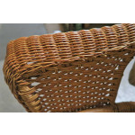 "High Back Veranda Resin Wicker Conversation Set (1) 19.5"" High Table (4) Chairs - DETAIL, VERANDA ARM"