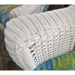 4 Piece High Back Veranda Resin Wicker Set with (2) Chairs - DETAIL, VERANDA ARM
