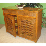 Buffet Lattice Wicker Cabinet - TEAWASH