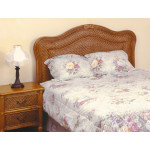 Del Ray Full or Queen Size Rattan Headboard - MAPLE