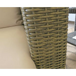 Caribbean Wicker Chat Set  - FINISH SAMPLE, DRIFTWOOD