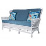 Vintage Natural Wicker Sofa -
