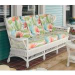 Vintage Natural Wicker Sofa - WHITE