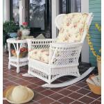 Vintage Natural Wicker Rocking Chair - WHITE