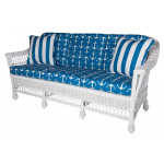 Columbia Wicker Sofa  - WHITE