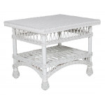Columbia Wicker Coffee Table - WHITE