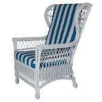 Columbia Wicker Wing Chair - WHITE