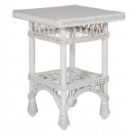Columbia Wicker End Table - WHITE
