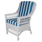 Columbia Wicker Dining Arm Chair - WHITE