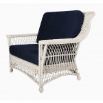 Lancaster Wicker Chair and a Half High Back - WHITE