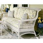 Lancaster Natural  Wicker Sofa High Back - WHITE