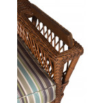 Lancaster Natural Wicker Chair with Magazine & Glass Holder High Back - ARM WITH MAGAZINE RACK