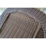 Laguna Beach Resin Outdoor Wicker Sofa  - FULLY WOVEN CHAIR BACK